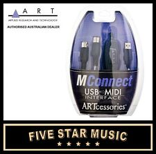 ART MCONNECT USB TO MIDI CABLE NEW A.R.T. PRO AUDIO
