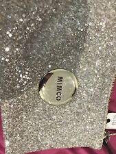 Mimco Tiny Sparks Silver/Gold Glitter small pouch clutch wallet purse Authentic