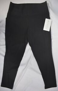 NWT $98 Athleta Size M Black Salutation Stash Pocket 7/8 Tight Powervita #531321