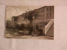Vecchia foto cartolina d epoca di Pagani edificio scolastico giardini scale da