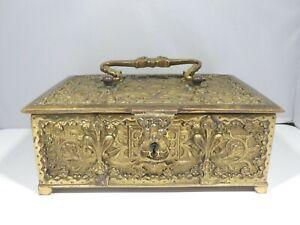 LARGE ERHARD SOHNE BRONZE ART NOUVEAU JEWELRY CASKET BOX