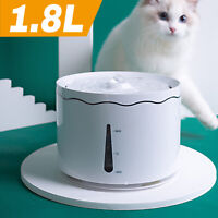 1.8L Automatic Cat Water Fountain Electric LED Dog Cat Dispenser Feeder &Filter