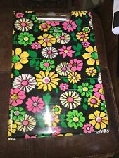vtg 1970s Floral Flower Power School Legal Pad Holder Portfolio mod hippie