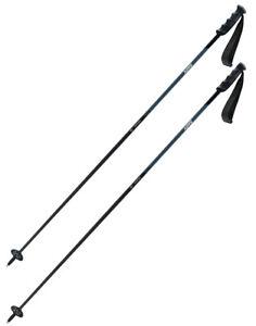 Swix Excalibur Ski Poles Dark (Black and Grey) with DD4 Grip