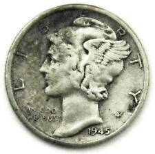 1945 MERCURY Silver DIME - Micro s - See Pictures