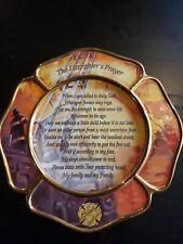 Bradford Exhcange Firefighters Prayer Plate