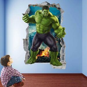 Hulk Superhero Wall Stickers Mural Decal Print Art Kids Bedroom Decor EA100