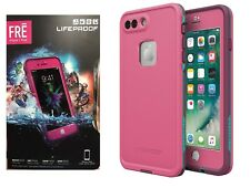 LifeProof FRE Case WaterProof Case For iPhone 8 Plus 7 Plus Edge Pink Brand NEW