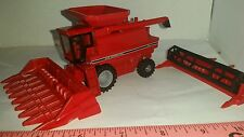 1/64 CUSTOM case ih 1666 combine with clear cab hopper & heads ERTL farm toy