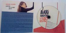 NIKKI YANOFSKY - Little Secret - FRENCH PROMO ALBUM CD in SPECIAL INSERT - 2014
