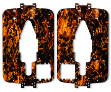Traxxas T-maxx 3.3 - Chassis Plate Protector Kit - Dark Orange Flames TRA 4907