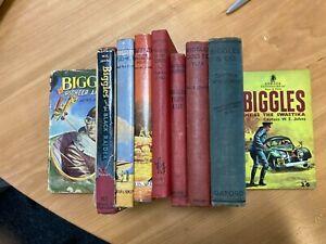 8 Biggles Hardbacks and 1 Biggles Paperbacks