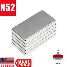 1 50pcs N52 20x10x2mm Neodymium Block Magnet Super Strong Rare Earth Magnets Lot