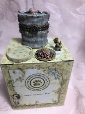 Boyds Bear Treasure Box Chanel's Hat Box With Narcissus McNibble