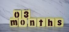 Handmade, Solid Wood Baby Age Blocks, Nursery Decor, Photo Prop, Milestone Block