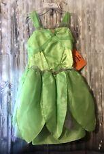 Disney Youth Girls Sleeveless Tinkerbell Costume Dress Size L (10) NWT