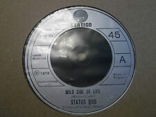 """Status QUO """"WILD SIDE OF LIFE"""" 7"""" singolo eccellente 1976 VERTIGO 6059 153"""