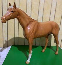 BESWICK HORSE LARGE RACEHORSE PALOMINO 1564  GLOSS TO RESTORE