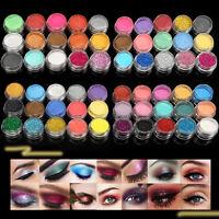 15/30PCS MIX Colors Loose Eyeshadow Pigment Powder Satin Glitter Eye Makeup Set