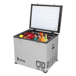 64Qt 60L Large Portable Car Fridge Freezer Refrigerator Cooler Electric Outdoor