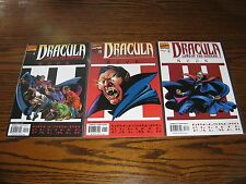 Marvel - DRACULA Lord of the Undead 1 - 3 Complete Series!!  1998 Glossy VF