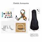 Ukulele Storage Case Bag Strap Strings Machine Heads Finger Protector Kits