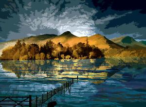 Derwent Water Lake District Limited Edition Art Print By Sarah Jane Holt
