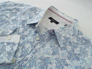 """TED BAKER Mens Shirt 🌍 Size 16"""" (42"""" CHEST) 🌎 RRP £65-129+📮 PASHION FLORAL"""