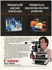 Original 1983 Canon Accu-Vision Portable Video Camera, Recorder Vintage Print Ad