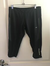Nike Dri Fit Running Black Capris Size L