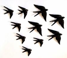 10x Hand painted Portuguese Ceramic Decorative Wall Hanging Swallows home spring