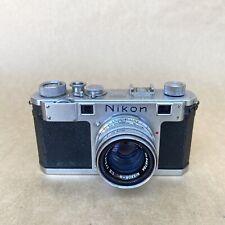 Nikon S Tokyo Nippon Kogaku Vintage 35mm Rangefinder Film Camera W/ 50mm F2 Lens
