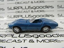 Johnny Lightning 1:64 LOOSE Collectible Blue 1968 CHEVROLET CORVETTE Convertible