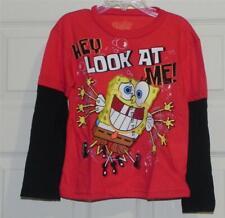"Nwt-Toddler Boy's SpongeBob Square Pants ""Hey Look At Me"" Mock Layered Shirt-3T*"