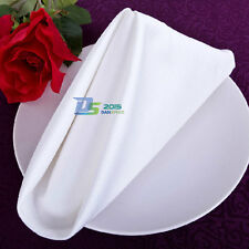 12 Wedding White Catering Serviette Dinner Party Table Cloth Napkins Decor 48cm