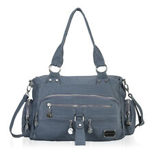 Ladies Womens Soft Leather Work Handbag Shoulder Bag Multi Pockets Tote Bags NWT