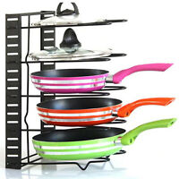 Saucepan Lid Pods Storage Kitchen Cupboard Cookware Organiser Tools Shelf Racks