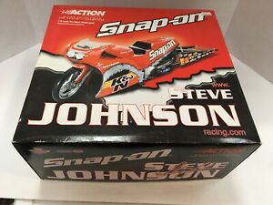 NEW ACTION COLLECTIBLES STEVE JOHNSON 1:9 SCALE PRO-STOCK MOTORCYCLE FREE SHIP!