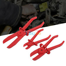 3x Flexible Nylon Hose Line Clamp Plier Tool Set Brake Fuel Water Line Red ZY