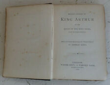 Vintage Book 1886 Malory's History of King Arthur Quest Holy Grail H/B