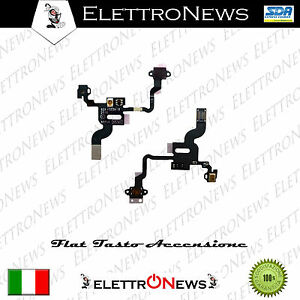 Flat Tasto Accensione + Sensore Luminosità Iphone 4