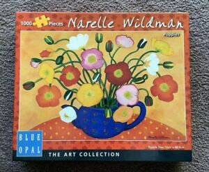 Blue Opal (Art Collection)-Narelle Wildman: Poppies (1000 Pieces Jigsaw Puzzle)