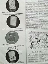 1954 Zippo gold filled Chrome leather geese cigarette lighter ad