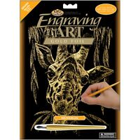 A4 COPF24 Panda /& Baby Engraving Art Scraper Foil Kit Copper