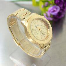 Fashion Geneva Ladies Women Girl Unisex Stainless Steel Quartz Wrist Watch