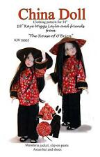 "KW18003 China Doll pattern for 18"" Kaye Wiggs, BJD, MSD, Ball joint"