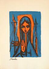 SEVEK (1918-1994) Lithographie de 1960 / Nouvelle Ecole de Paris / La Madone.