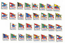 1998 WORLD CUP COCA COLA COUNTRY FLAGS PINS CARRIED BY MASCOT FOOTIX NEW IN BAGS