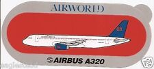 Baggage Label - Airworld - A320 - Orange - Airbus - Sticker (BL487)