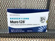* NEW Bausch & Lomb Muro 128 5% Ointment 1/8 oz 3.5g Exp JANUARY 2022 Twin Pack
